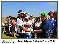 Enda Kenny playing with Lee Slattery (ENG) on the 10th tee during Wednesday's Pro-Am of the 2018 Dubai Duty Free Irish Open, held at Ballyliffin Golf Club, Ireland. 4th July 2018.<br /> Picture: Eoin Clarke | Golffile<br /> <br /> <br /> All photos usage must carry mandatory copyright credit (&copy; Golffile | Eoin Clarke)