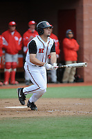 Rutgers University Scarlet Knights outfielder Tom Marcinczyk (31) during game game 1 of a double header against the University of Houston Cougers at Bainton Field on April 5, 2014 in Piscataway, New Jersey. Rutgers defeated Houston 7-3.      <br />  (Tomasso DeRosa/ Four Seam Images)