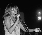 Tina Turner performing at the Ritz  on January 27, 1983 in New York City.