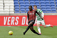 16th July 2020; Nice, France; Veolia Trohy Football friendly, OGC Nice versus Celtic FC;   Jean-Victor Makengo Nice plays the ball away under pressure