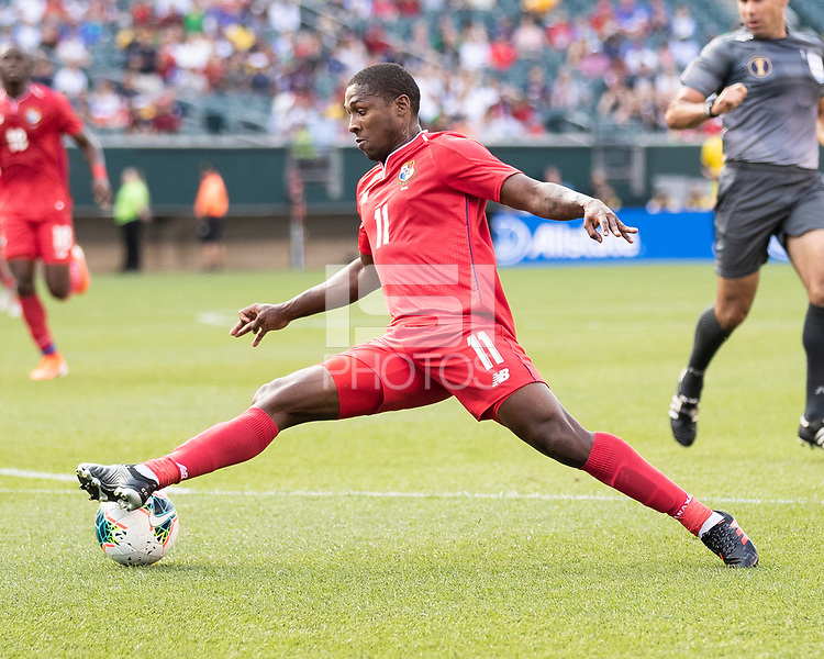 PHILADELPHIA, PA - JUNE 30: Armando Cooper #11 during a game between Panama and Jamaica at Lincoln Financial Field on June 30, 2019 in Philadelphia, Pennsylvania.