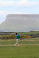 Jack Hume (Naas) on the 17th during round 2 of The West of Ireland Amateur Open in Co. Sligo Golf Club on Saturday 19th April 2014.<br /> Picture:  Thos Caffrey / www.golffile.ie