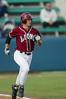 Chris Pettit of the Loyola Marymount Lions runs to first base during a 2004 season game at Page Stadium, in Los Angeles, California. (Larry Goren/Four Seam Images)