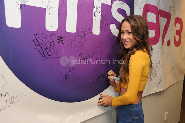 HOLLYWOOD, FL -  DECEMBER 02: Skylar Stecker poses for a portrait at 97.3 The Hits radio station on December 2, 2015 in Hollywood, Florida.  Credit: mpi04/MediaPunch