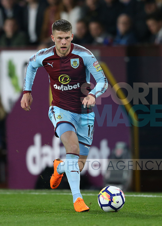 Johann Guomundsson of Burnley during the premier league match at the Turf Moor Stadium, Burnley. Picture date 19th April 2018. Picture credit should read: Simon Bellis/Sportimage