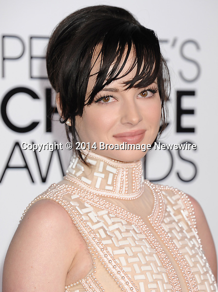 Pictured: Ashley Rickards<br /> Mandatory Credit &copy; Gilbert Flores /Broadimage<br /> 2014 People's Choice Awards <br /> <br /> 1/8/14, Los Angeles, California, United States of America<br /> Reference: 010814_GFLA_BDG_275<br /> <br /> Broadimage Newswire<br /> Los Angeles 1+  (310) 301-1027<br /> New York      1+  (646) 827-9134<br /> sales@broadimage.com<br /> http://www.broadimage.com