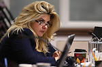 Nevada Assemblywoman Michele Fiore, D-Las Vegas, works in committee at the Legislative Building in Carson City, Nev., on Monday, Feb. 25, 2013..Photo by Cathleen Allison