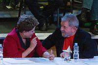 SAO PAULO, SP, 02.05.2014 - ENCONTRO NACIONAL DO PT - Dilma Rousseff presidente da Republica e Luis Inacio Lula da Silva ex presidente da Republica durante XIV Encontro Nacional do PT no Anhembi região norte da cidade de Sao Paulo nesta sexta-feira, 02. (Foto: Amauri Nehn / Brazil Proto Press).