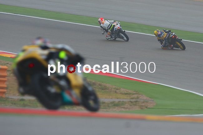 "Gran Premio Movistar de Aragón<br /> during the moto world championship in Motorland Circuit, Aragón<br /> Race Moto3<br /> after ""sacacorchos""<br /> PHOTOCALL3000"