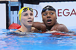 (L-R) Sarah Sjostrom (SWE), Simone Manuel (USA), AUGUST 11, 2016 - Swimming : <br /> Women's 100m Freestyle Final <br /> at Olympic Aquatics Stadium <br /> during the Rio 2016 Olympic Games in Rio de Janeiro, Brazil. <br /> (Photo by Yohei Osada/AFLO SPORT)