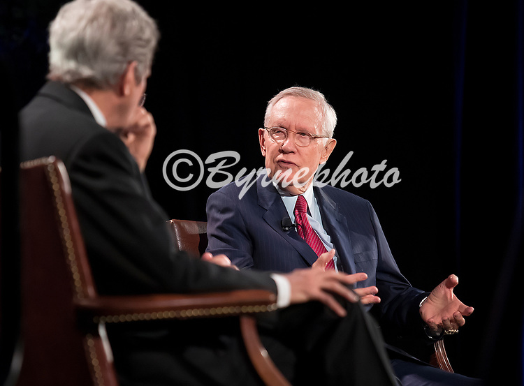 Harry Reid Public Engagement Lecture Series<br /> Speakers, former Secretary of State John Kerry and former U s Senator and Speaker of the House Harry Reid