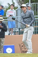 Dylan Frittelli (RSA) watches his tee shot on 10 during Round 3 of the Valero Texas Open, AT&T Oaks Course, TPC San Antonio, San Antonio, Texas, USA. 4/21/2018.<br /> Picture: Golffile | Ken Murray<br /> <br /> <br /> All photo usage must carry mandatory copyright credit (© Golffile | Ken Murray)
