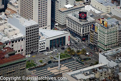 aerial photograph Union Square, San Francisco, California