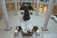 Moscow, Russia, 04/01/2004..Security guards at the luxurious but largely deserted Crocus City shopping mall.