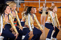 25 February 2010:  FIU's Golden Dazzlers entertain the crowd during a break in the action as the Middle Tennessee Blue Raiders defeated the FIU Golden Panthers, 74-71, at the U.S. Century Bank Arena in Miami, Florida.