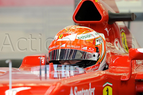 27.02.2014. Bahrain.  Kimi Raikkonen, Scuderia Ferrari, formula 1 GP, Test Bahrain, Shakir