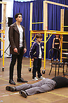 """Bobby Conte Thornton and Hudson Loverro during the open press rehearsal for """"A Bronx Tale - The New Musical""""  at the New 42nd Street Studios on October 21, 2016 in New York City."""