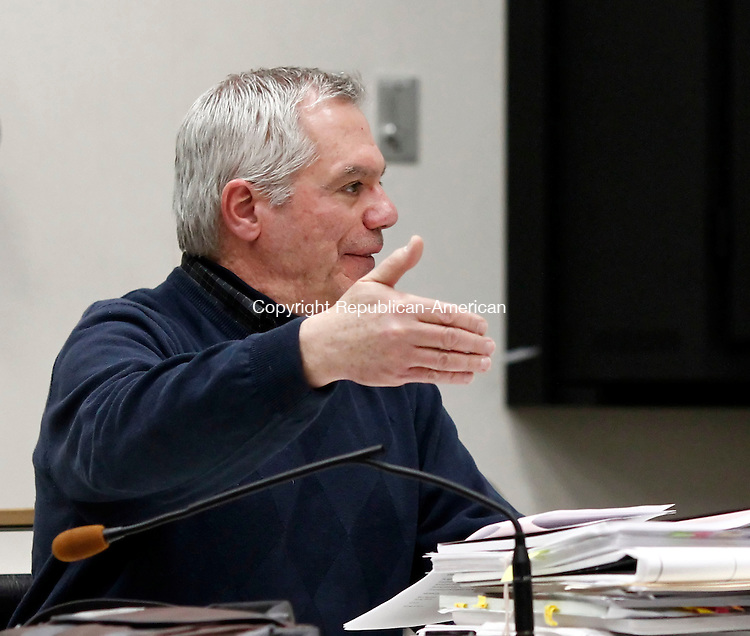 Southbury, CT- 26 March 2014-032614CM10-  Southbury Zoning Enforcement Officer, Mark Massoud talks to the Zoning Commission during a meeting at the Town Hall Wednesday night.  The commission met to talk about to begin deliberations on the proposed movie theater in town.  Christopher Massa Republican-American