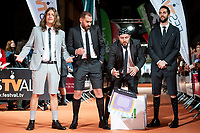 Marcos Martinez 'Grison', Jorge Ponce, Ricardo Castella and David Broncano attends to orange carpet of new comedian schedule of #0 during FestVal in Vitoria, Spain. September 06, 2018 (ALTERPHOTOS/Borja B.Hojas) /NortePhoto.com NORTEPHOTOMEXICO