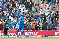 Bhuvneshwar Kumar (India) runs infield following his catch to dismiss David Warner during India vs Australia, ICC World Cup Cricket at The Oval on 9th June 2019