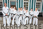 The annual Irish United Taekwon-do Federation (IUTF) black belt grading was held at Master John Riordan's full time Taekwon-do centre in Newcastle West, Co Limerick on the 8th of May. 60 Taekwon-do students from around the country took part in the grading, 8 of these were from South Kerry, 6 from the Cahersiveen club instructed by Master John Riordan 7th Dan and 2 from the Waterville club instructed by Ms Carol Ashworth 3rd Dan. Those taking part on the day were asked to perform their required techniques including traditional patterns and fundamental movements, sparring, self defense techniques and a vast array of advanced kicking techniques in front of a panel of 5 examiners. Spending an intensive hour and a half on the floor. This is a huge achievement for our students who have been training on average for between 5 to 7 years to reach this level. It has taken a great deal of dedication and commitment by each of them. Although to reach black belt level is a great achievement in its own right, this is only the beginning of their taekwon-do journey for many people. It is hoped that these new black belts will now progress to higher dan grades and also  strive to compete at international level at European and World Championships. Pictured here l-r Master John Riordan 7th Dan, Patrick Devane, Hazel Sugrue, Grace O'Sullivan, Claire O'Connor, Francesca O'Connor, Darragh Devlin, Saoirse O'Connor &amp; Ms Carol Ashworth 3rd Dan, missing from photo Cian O'Donoghue.<br /> The club trains every Tuesday in Cahersiveen and Thursday in Waterville. For info find us on facebook or call 0872047254