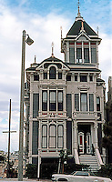 San Francisco: Victorian House, Fulton Street. Westerfield Mansion, Alamo Square. Stick-Eastlake, 1880's.   Photo '78.