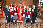 St. Ita's & St. Joseph's 5th & 6th students were confirmed by Bishop Ray Browne at ST. JOHN'S CHURCH, BALLOONAGH  on Thursday. Pictured front students Jonathan McCarthy, Lauren Walsh Hayes, Amy Murphy and Richard McCarthy. Back Teachers Anne O'Keeffe, Louise McCarthy, Fr. Patsy Lynch, Bishop Ray Browne, Fr. Nicholas FlynnGrace Sheehan(Principal), Teacher Aileen Walsh