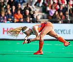ROTTERDAM - Yibbi Jansen (Ned) scoort  tijdens de Pro League hockeywedstrijd dames, Nederland-USA  (7-1) .   COPYRIGHT  KOEN SUYK