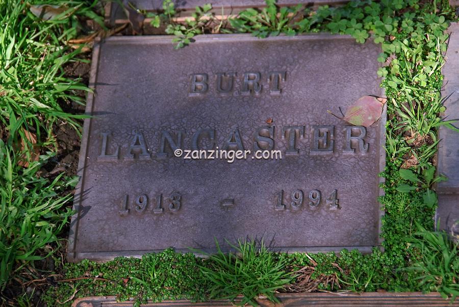 Burt Lancaster Grave Westwood Memorial Park, Westwood Village Memorial Park celebrity, graves