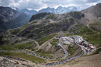 Col du Galibier. <br /> <br /> Stage 18: Embrun to Valloire (208km)<br /> 106th Tour de France 2019 (2.UWT)<br /> <br /> ©kramon