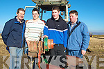 INTERESDTED: Young farmers who were interested in the Causeway Ploughing Championships on Sunday L-r:Michael and Michael O'Halloran (jnr) (ballyheigue), Moss and Kevin O'Mahony (Kilflynn). ................................. ....