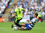 Huddersfield's Jonathan Hogg tussles with Reading's John Swift during the Championship Play-Off Final match at Wembley Stadium, London. Picture date: May 29th, 2017. Pic credit should read: David Klein/Sportimage