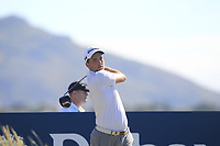 Bradley Neil (SCO) on the 11th tee during Round 2 of the Dubai Duty Free Irish Open at Ballyliffin Golf Club, Donegal on Friday 6th July 2018.<br /> Picture:  Thos Caffrey / Golffile