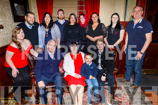 Bernie Quirke from Ballyrickard Court celebrating her 65th birthday on Saturday in the Grand Hotel.<br /> Seated l to r: Noel Quirke, Bernie Quirke,Jake Cronin and Laura Horgan.<br /> Back l to r: Samantha, Leo and Caroline Horgan, Noel Quirke, Dimaima Viasi,  Katie Horan, Fiona Cronin, Sophie Knightley and Denis Cronin.