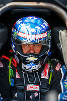 Sep 16, 2016; Concord, NC, USA; NHRA funny car driver John Force during qualifying for the Carolina Nationals at zMax Dragway. Mandatory Credit: Mark J. Rebilas-USA TODAY Sports