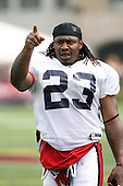 July 30th 2008:  Running Back Marshawn Lynch (23) of the Buffalo Bills during the sixth day of training camp at St. John Fisher College in Rochester, NY.  Photo Copyright Mike Janes Photography