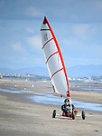Kite Surfing and sand yachting on Bettystown beach. Photo: Colin Bell/pressphotos.ie