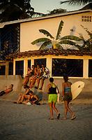 Costa Rica - file Photo -Tamarindo ,surfers at dawn