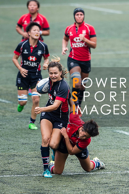 Colleen Tjosvold of Dragons (L) in action during the Women's National Super Series 2017 on 13 May 2017, in Hong Kong Football Club, Hong Kong, China. Photo by Marcio Rodrigo Machado / Power Sport Images