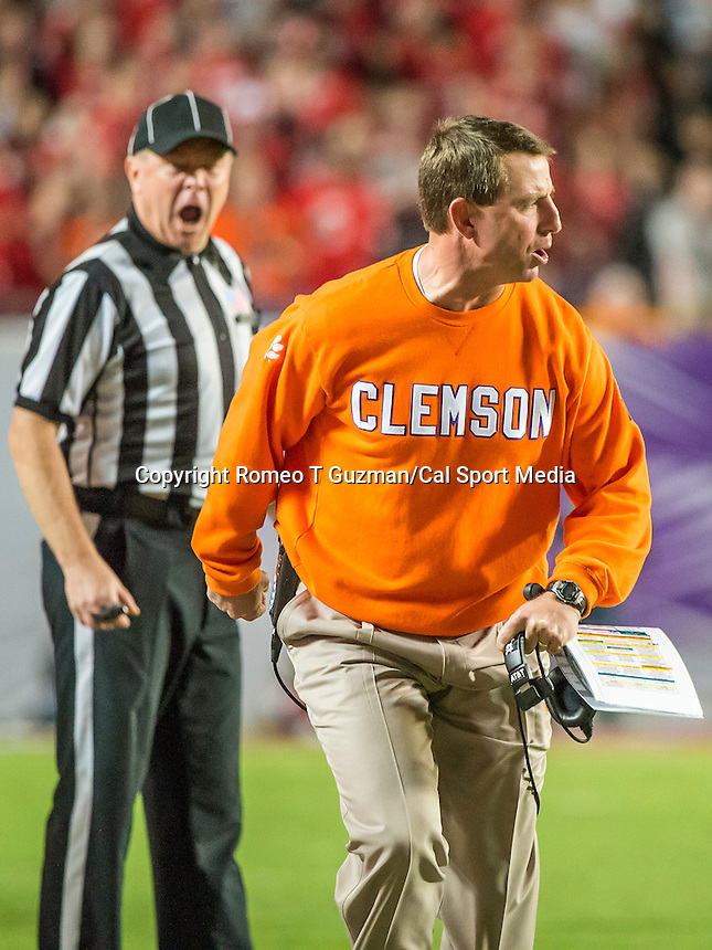 January 3, 2014 - Miami Gardens, Florida, U.S: \  during second half action of the Discover Orange Bowl between the Clemson Tigers and the Ohio State Buckeyes. Clemson defeated Ohio State 40-35 at Sun Life Stadium in Miami Gardens, Fl