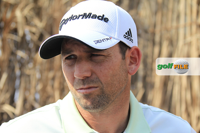 Sergio Garcia (ESP) after his spectacular round during Friday's Round 2 of the season ending DP World Tour Championship 2012 held on the Earth Course at the Jumeirah Golf Estates,Dubai. 23rd November 2012 (Photo Eoin Clarke/www.golffile.ie)