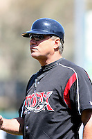 Carlos Lezcano, manager  -  Lake Elsinore Storm playing against the Lancaster JetHawks at the Diamond, Lake Elsinore, CA - 05/16/2010.Photo by:  Bill Mitchell/Four Seam Images