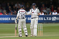 Jonathan Tattersall and Harry Brook enjoy a useful partnership for Yorkshire during Essex CCC vs Yorkshire CCC, Specsavers County Championship Division 1 Cricket at The Cloudfm County Ground on 7th July 2019