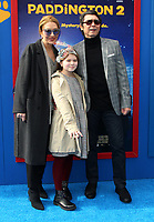 "6 January 2018 - Los Angeles, California - Lou Diamond Philipp with wife Yvonne Boismier Phillips and daughter Indigo Sanara Phillips. ""Paddington 2"" L.A. Premiere held at the Regency Village Theatre. Photo Credit: AdMedia"