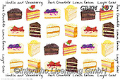Kate, STILL LIFE STILLEBEN, NATURALEZA MORTA, paintings+++++Chocs and cakes on white 1,GBKM107,#i#, EVERYDAY ,sticker,stickers