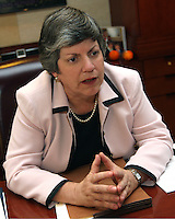 Janet Napolitano Homeland Securiity Director.Photo by AJ Alexander