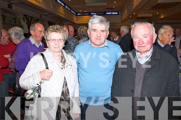 Pictured at the Balyloughane School Reunion on sunday held at the Devon Inn were L-R : Rita and John Corkrey of Knockaderry and Joe Hennesy of Newcastle West.