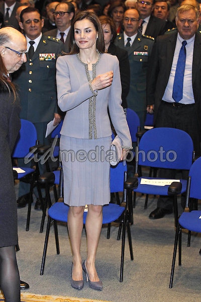 20 January 2017 - Madrid, Spain - Queen Letizia during the 'Tomas Francisco Prieto' awards at Casa de La Moneda. Photo Credit: PPE/Thorton/AdMedia