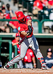 25 February 2019: Washington Nationals infielder Jacob Wilson at bat during a pre-season Spring Training game against the Atlanta Braves at Champion Stadium in the ESPN Wide World of Sports Complex in Kissimmee, Florida. The Braves defeated the Nationals 9-4 in Grapefruit League play in what will be the Braves' last season at the Disney / ESPN Wide World of Sports complex. Mandatory Credit: Ed Wolfstein Photo *** RAW (NEF) Image File Available ***