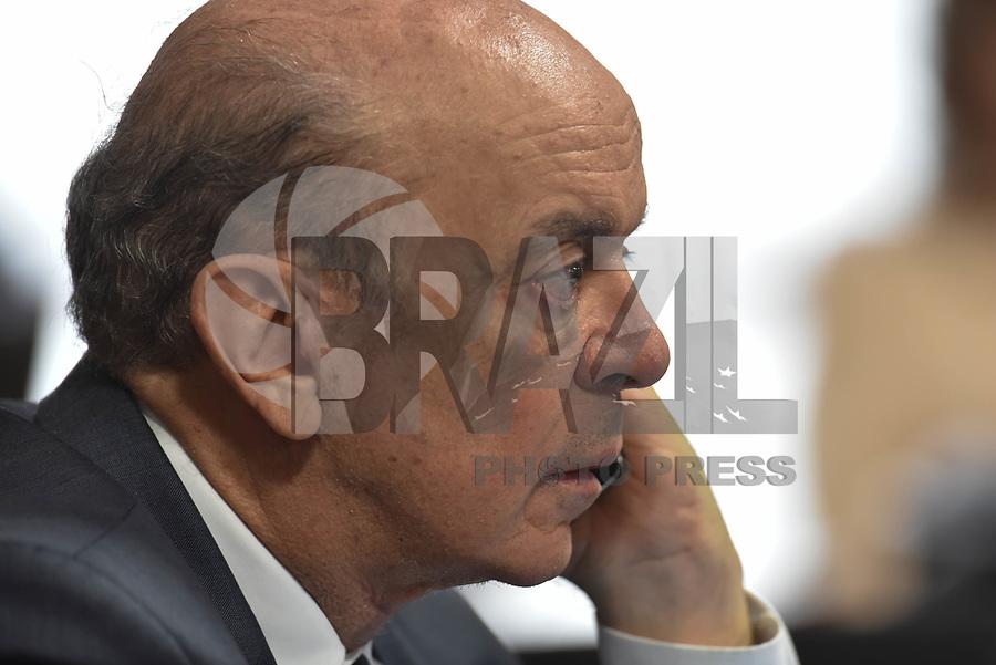 BRASÍLIA, DF, 12.07.2017 - SABATINA-CCJ - O senador José Serra durante sabatina de Raquel Dodge na CCJ do Senado nesta quarta-feira, 12, no Senado Federal. (Foto: Ricardo Botelho/Brazil Photo Press)